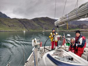 Leaving Loch Scavaig